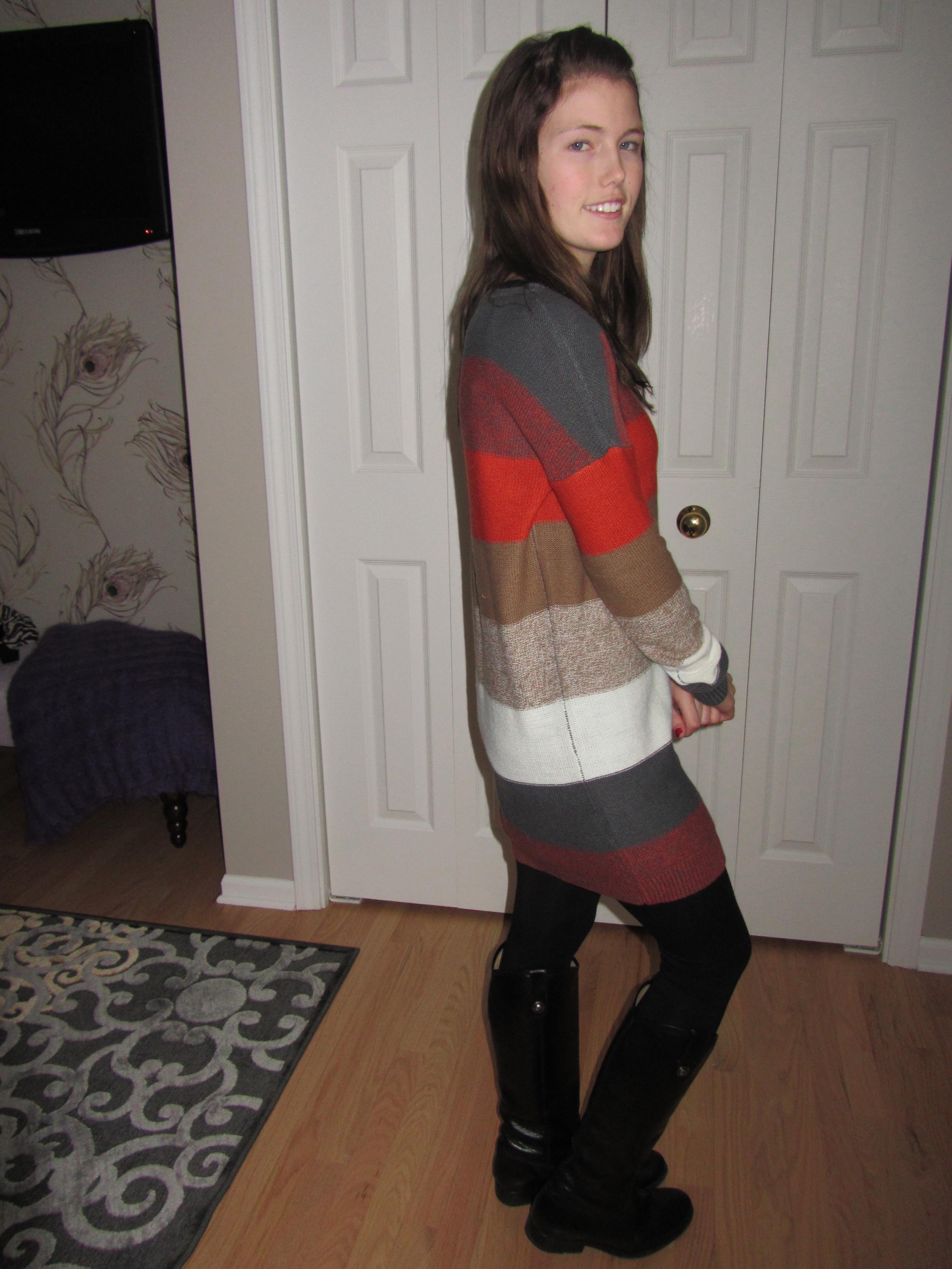 To wear a sweater dress